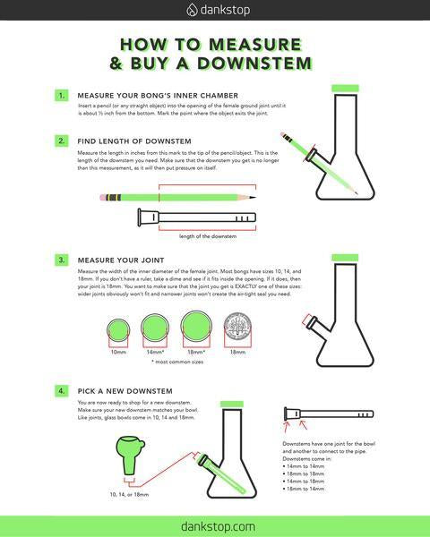 18mm to 18mm Diffused Downstem HeadshopHQ - Head Shop Headquarters
