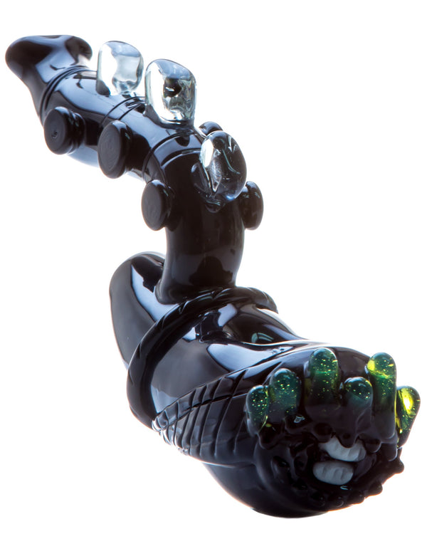Alien Themed Hand Pipe with Slyme Accents Empire Glassworks - Head Shop Headquarters