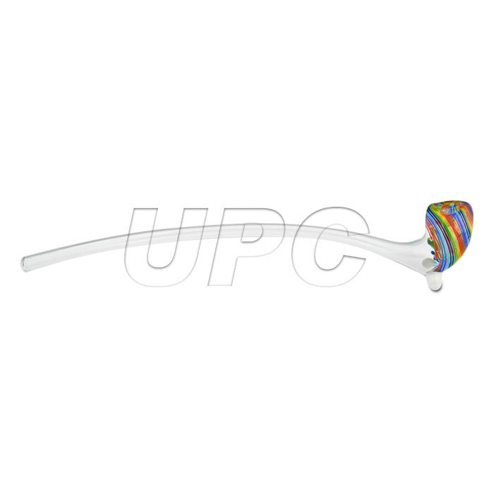 "Glassheads 13"" Rainbow Striped Gandalf Hand Pipe Glassheads - Head Shop Headquarters"