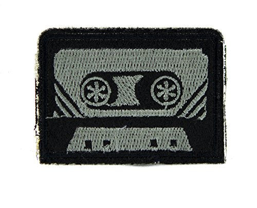 80's Nostalgia Cassette Tape Patch Iron on Applique Alternative Clothing