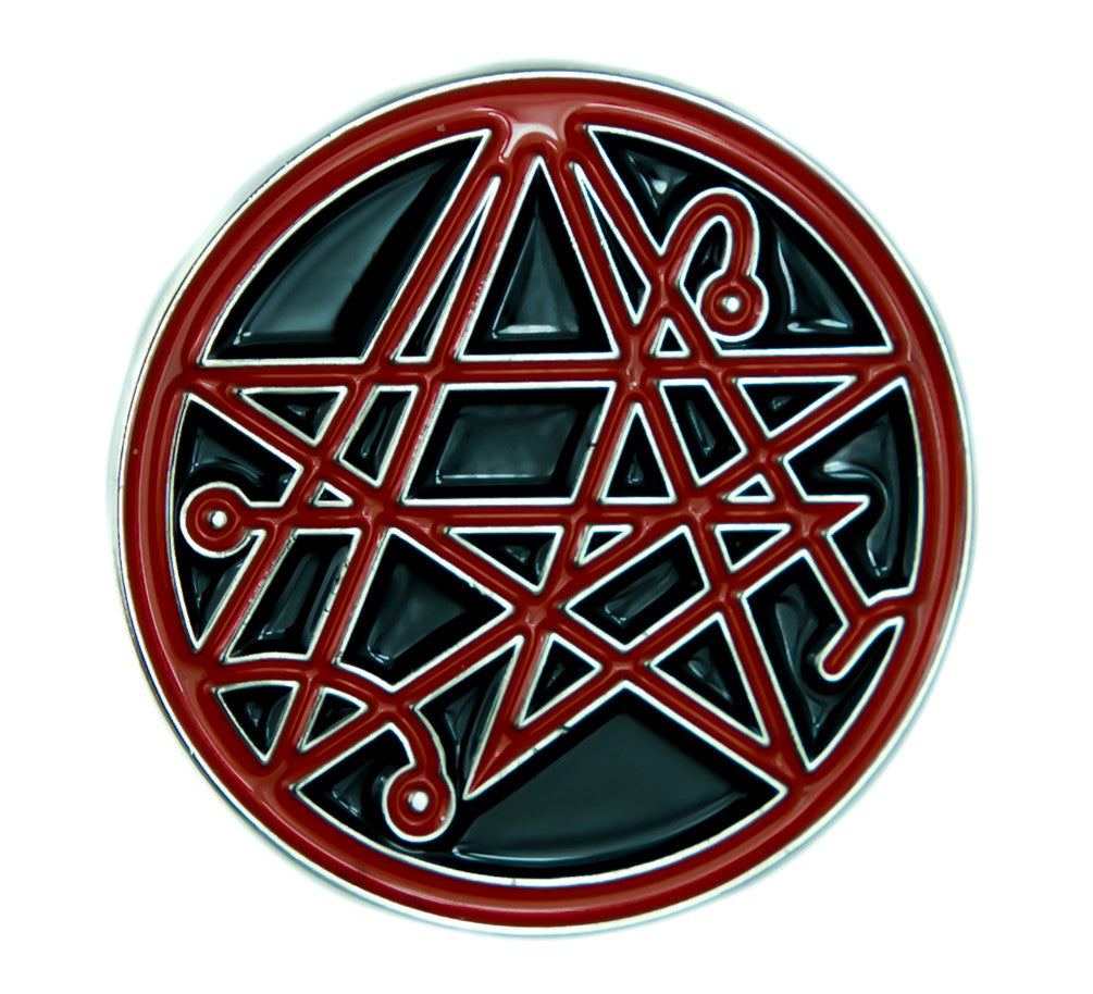 Necronomicon Gate Symbol Lapel Pin Occult Jewelry Alchemy Sign Jacket Pin