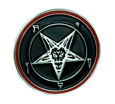 Classic Sabbatic Baphomet Lapel Pin Occult Jewelry Inverted Pentagram Goat Head Jacket Pin