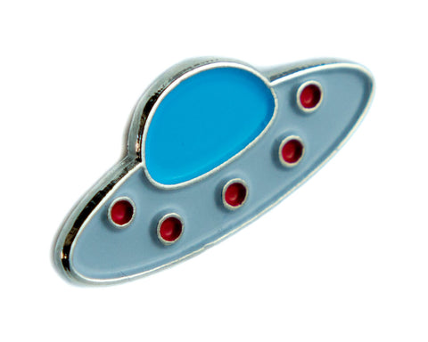 Flying Saucer UFO Lapel Pin Alternative Clothing Aliens I Believe They Are Out There