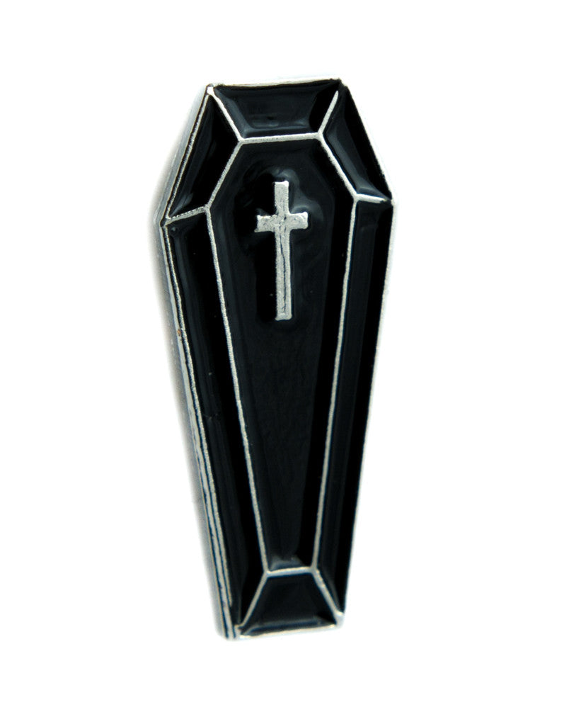 Death Toe Pincher Coffin Lapel Pin Undertaker Goth Jewelry Funeral Lolita Jacket Pin