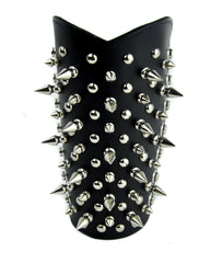 Tree Spike and Round Stud Armband Leather Wristband Gauntlet Alternative Clothing
