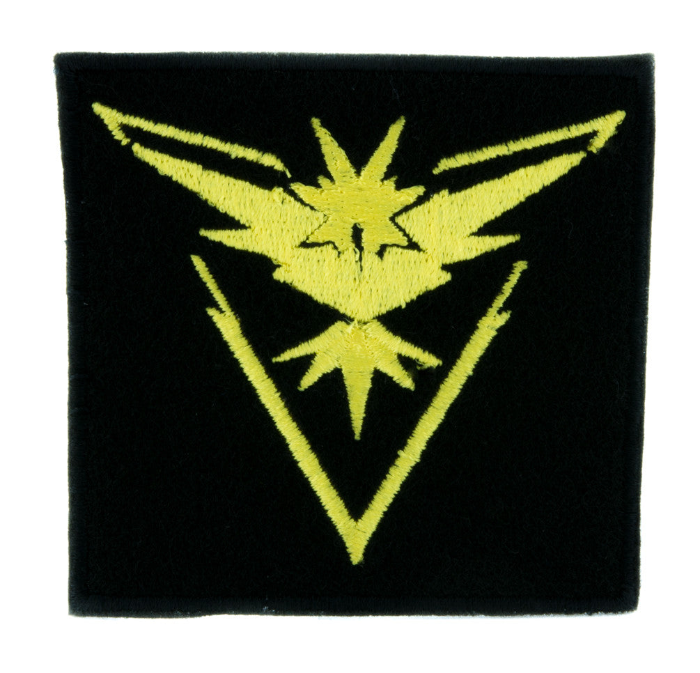 Team Instinct Yellow Pokemon Go Patch Iron on Applique Alternative Clothing Pikachu