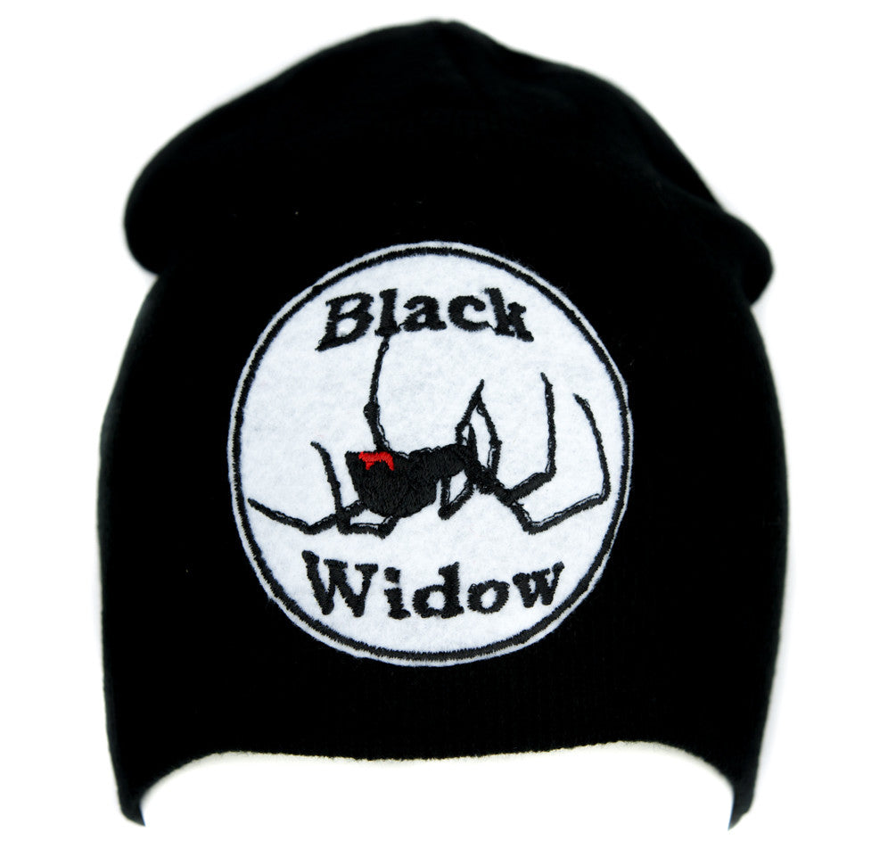 Black Widow Spider Beanie Alternative Style Clothing Knit Cap Halloween Horror
