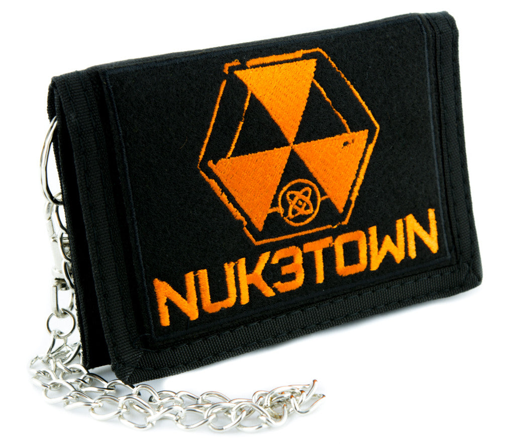 Nuk3town Call of Duty Tri-fold Wallet with Chain Alternative Clothing Black Ops Nuketown