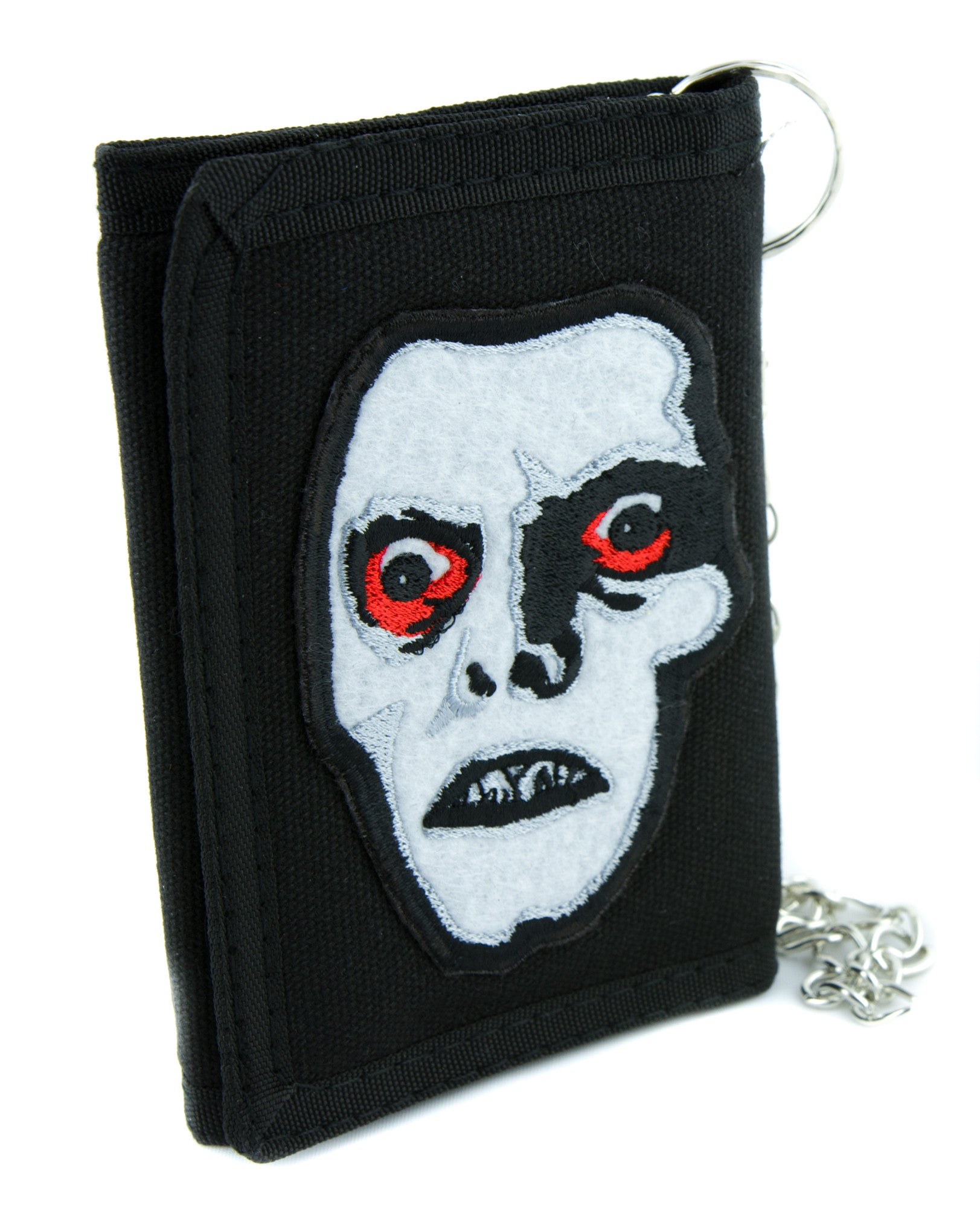 Captain Howdy Pazuzu The Exorcist Tri-fold Wallet with Chain Cult Clothing Horror Movie