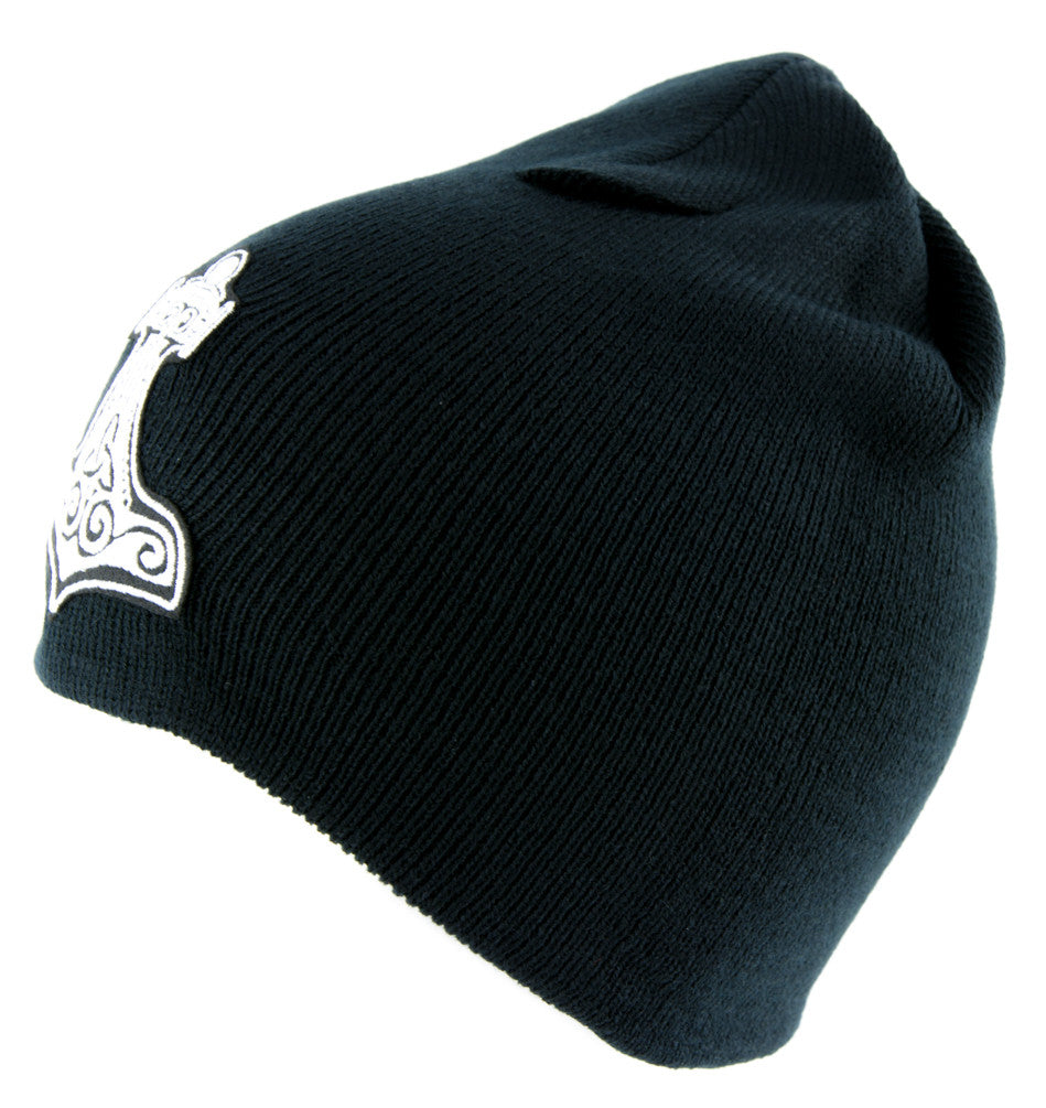 Mjolnir Thor's Hammer Norse Viking God Beanie Alternative Clothing Knit Cap Mythology