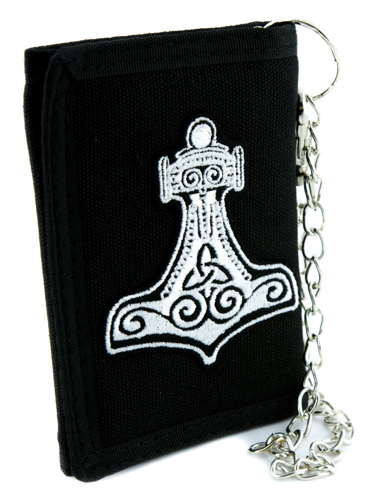 Thor's Hammer Mjolnir Tri-fold Wallet Alternative Clothing Odin Norse Mythology