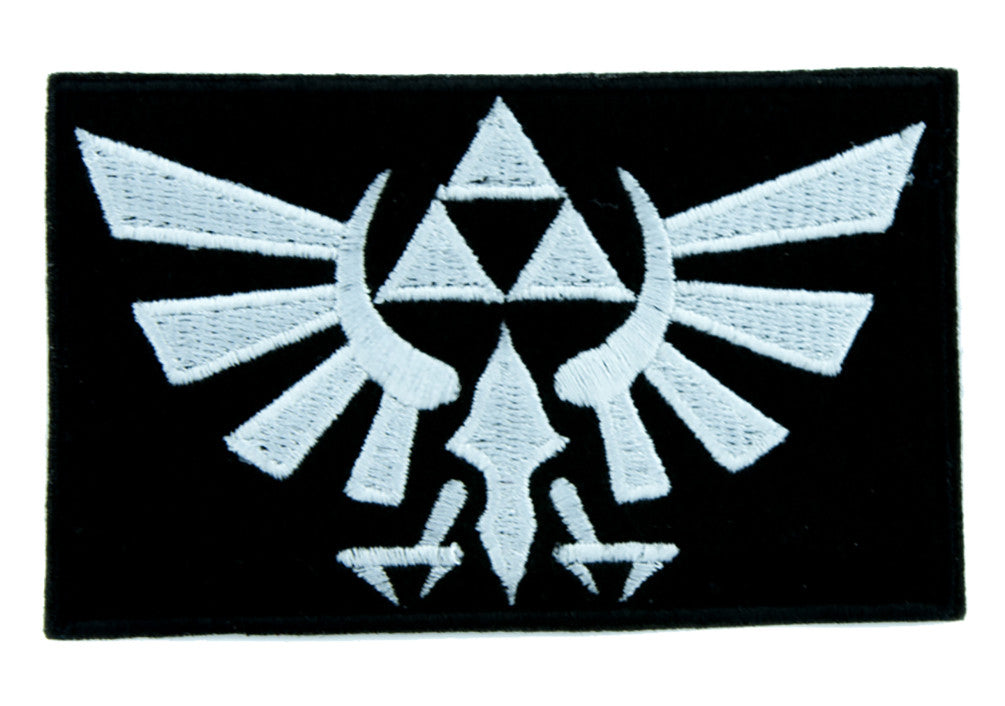 Wingcrest Hyrule Legend of Zelda Triforce Patch Iron on Applique Alternative Clothing Link Loftwing