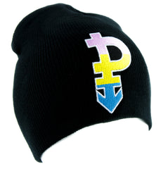 Pansexual Symbol Gender Equality Beanie Alternative Clothing Knit Cap Gender-Blind