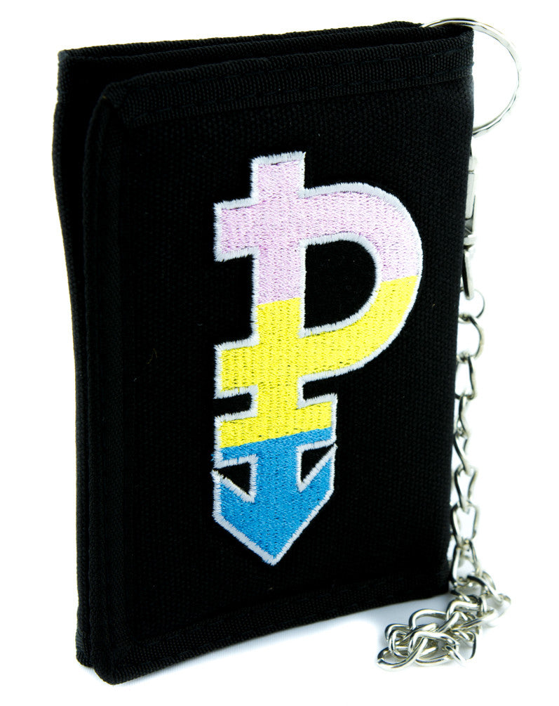 Pansexual Symbol Gender Equality Tri-fold Wallet Alternative Clothing LGBT Community