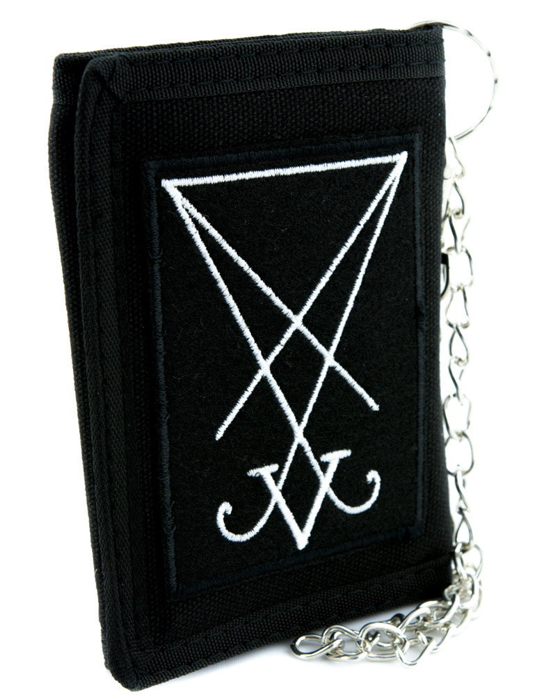 Sigil of Lucifer Symbol Tri-fold Wallet Occult Clothing Seal of Satan