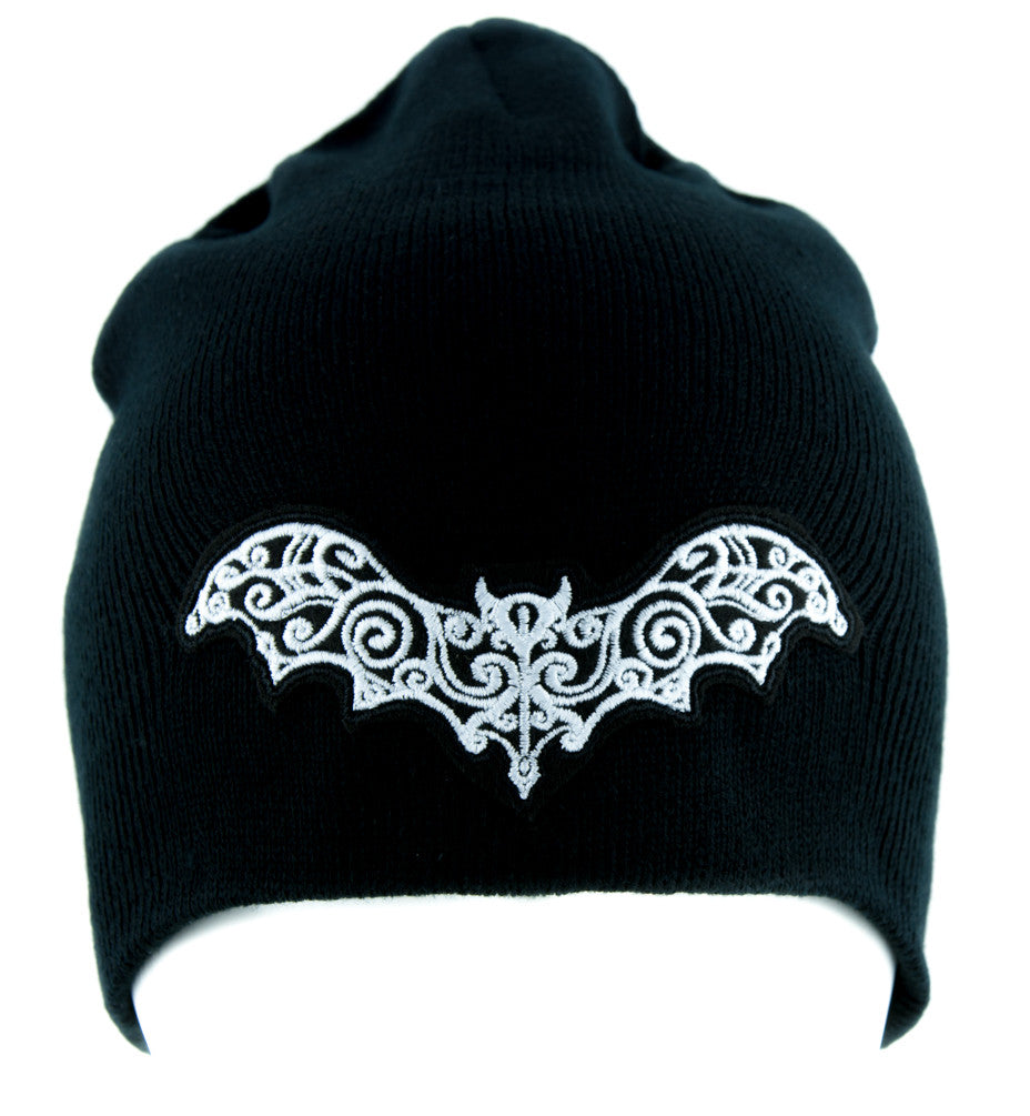 Elegant Vampire Bat Beanie Alternative Gothic Clothing Knit Cap Nosferatu
