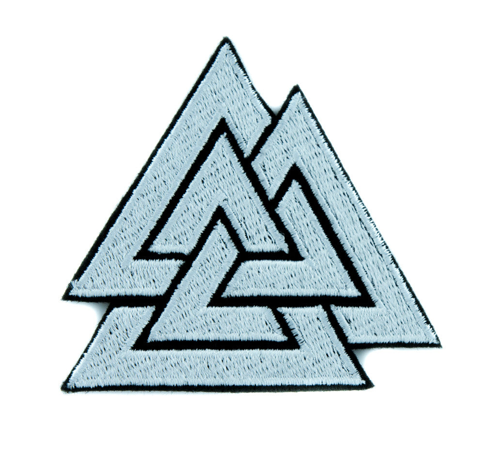 Triangles Valknut Odin Patch Iron on Applique Alternative Clothing Viking Symbol