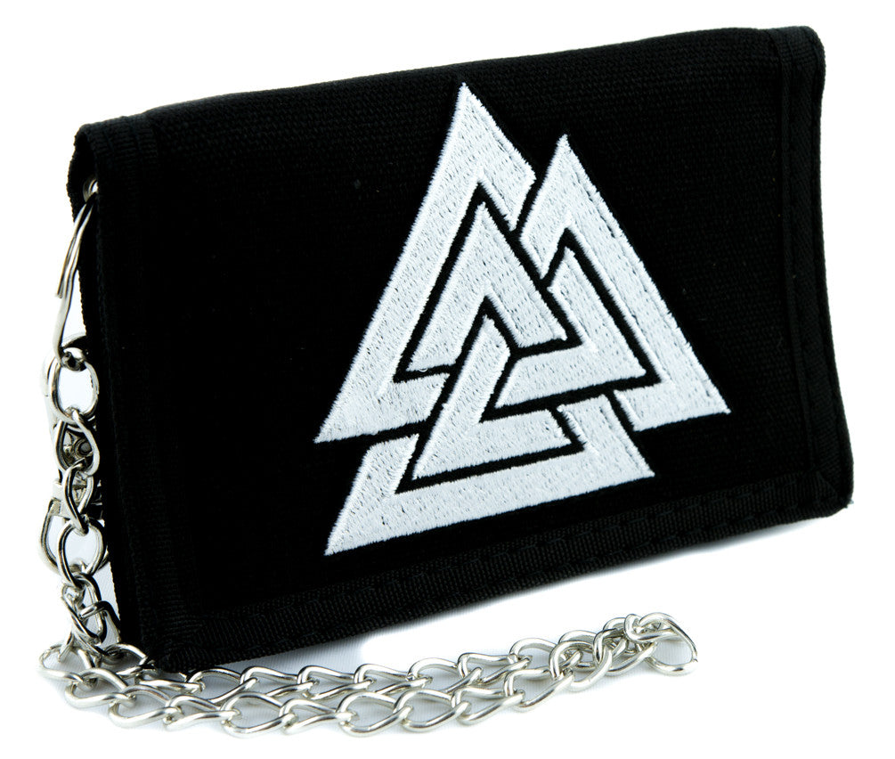 Triangles Valknut Odin Viking Symbol Tri-fold Wallet Alternative Clothing Old Norse Mythology