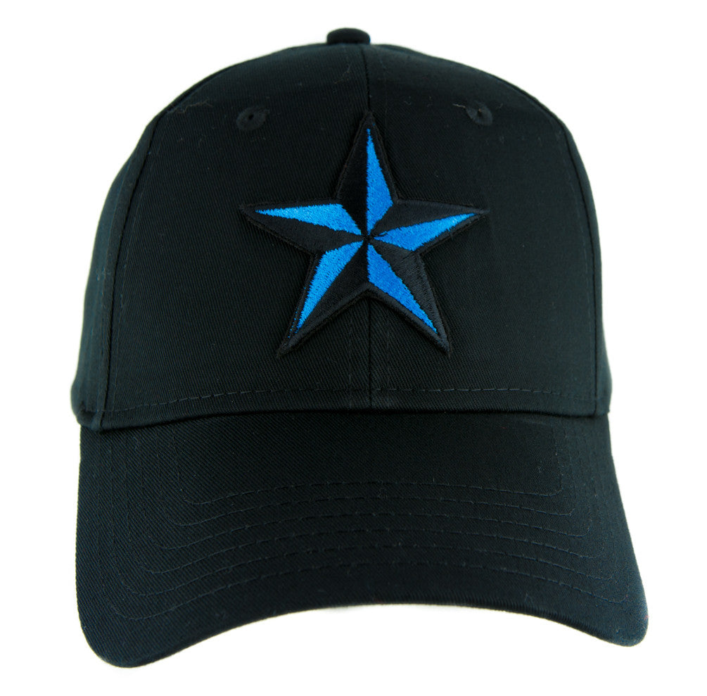 Blue Nautical Star Hat Baseball Cap Alternative Clothing Rockabilly Tattoo Symbol