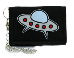 UFO Space Ship Tri-fold Wallet Alternative Clothing Alien Support Group I Believe