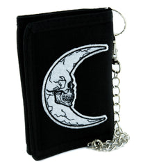 Crescent Moon Skull Tri-fold Wallet Alternative Clothing Astrology Witchcraft