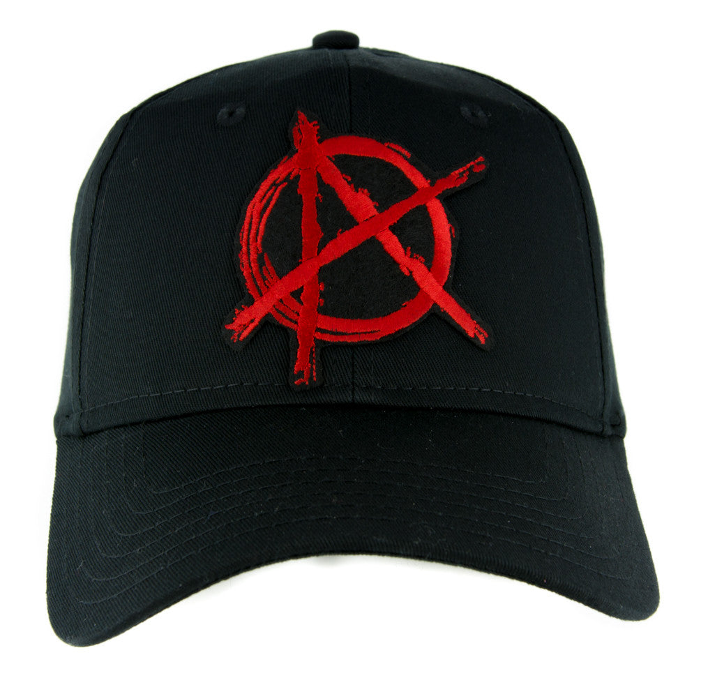Red Anarchy Sign Hat Baseball Cap Alternative Clothing Punk Rock Revolution