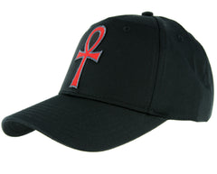 Red Ankh Egyptian Hieroglyph Hat Baseball Cap Alternative Clothing Eternal Life