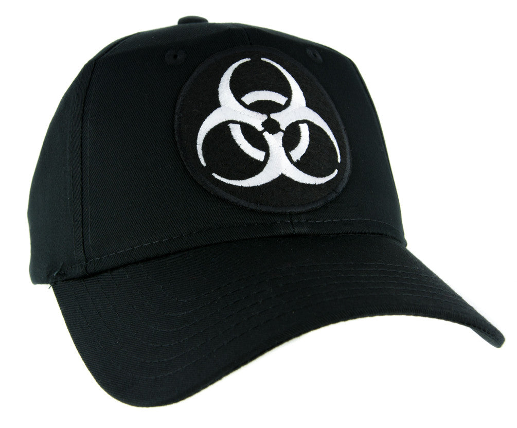 Death White Biohazard Sign Hat Baseball Cap Horror Clothing Zombie Apocalypse