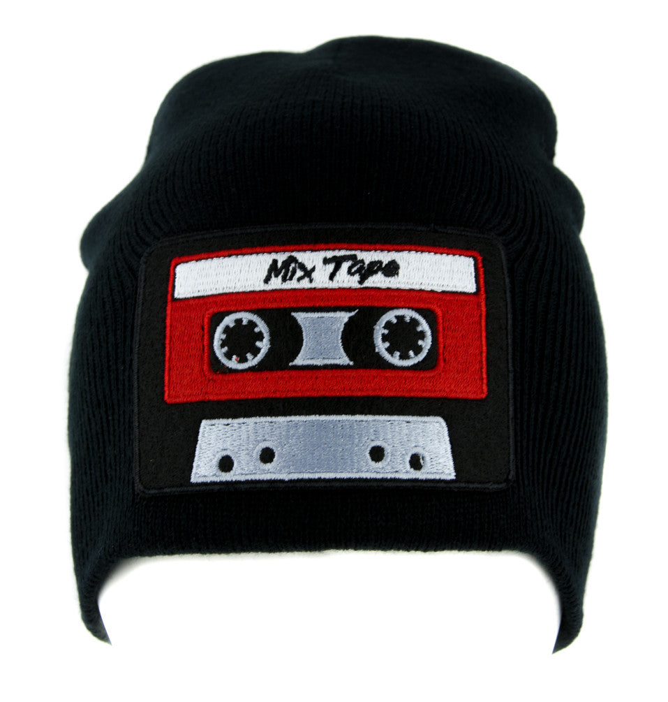 Mix Tape 80's Nostalgia Cassette Tape Beanie Knit Cap Alternative Clothing