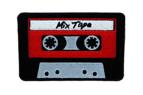 80's Nostalgia Cassette Tape Patch Iron on Applique Alternative Clothing Mix Tape