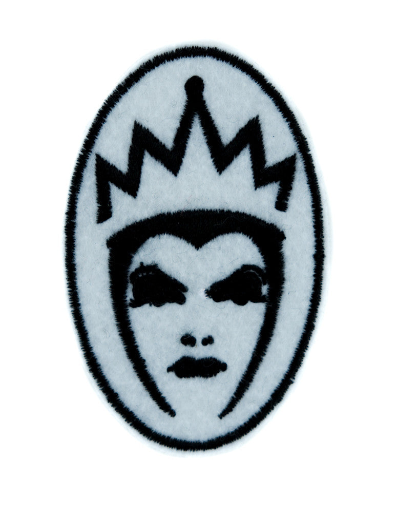 Evil Queen of Snow White Patch Iron on Applique Goth Clothing Brothers Grimm