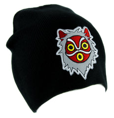 Princess Mononoke San Wolf Mask Beanie Knit Cap Alternative Clothing Anime