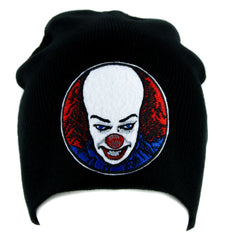 Pennywise Clown Stephen King's It Beanie Knit Cap Gothic Horror Clothing Halloween