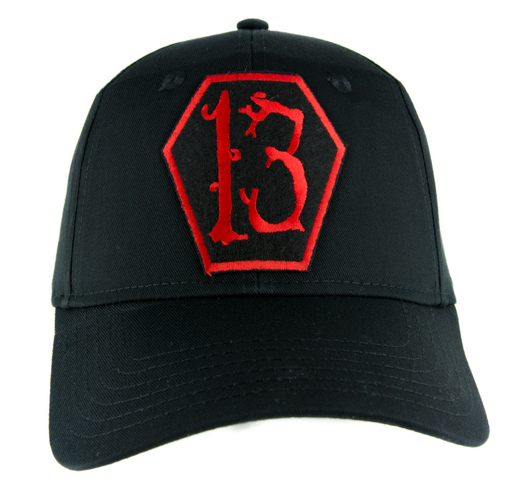 Red Coffin Number Thirteen 13 Hat Baseball Cap Alternative Rockabilly Clothing