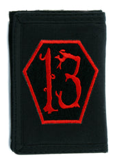 Red Coffin Number Thirteen Tri-fold Wallet Dark Alternative Gothic Clothing Lucky 13