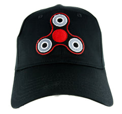Red Fidget Spinner Hat Baseball Cap Alternative Clothing Stress Relieving Toy
