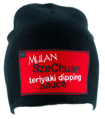 Mulan SzeChuan Teriyaki Dipping Sauce Beanie Knit Cap Rick and Morty