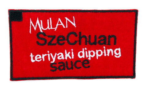 Mulan SzeChuan Teriyaki Dipping Sauce Patch Iron on Applique Rick and Morty