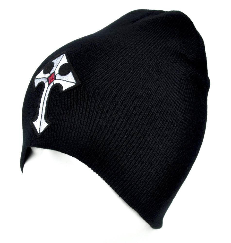 Medieval Holy Cross Beanie Alternative Clothing Knit Cap