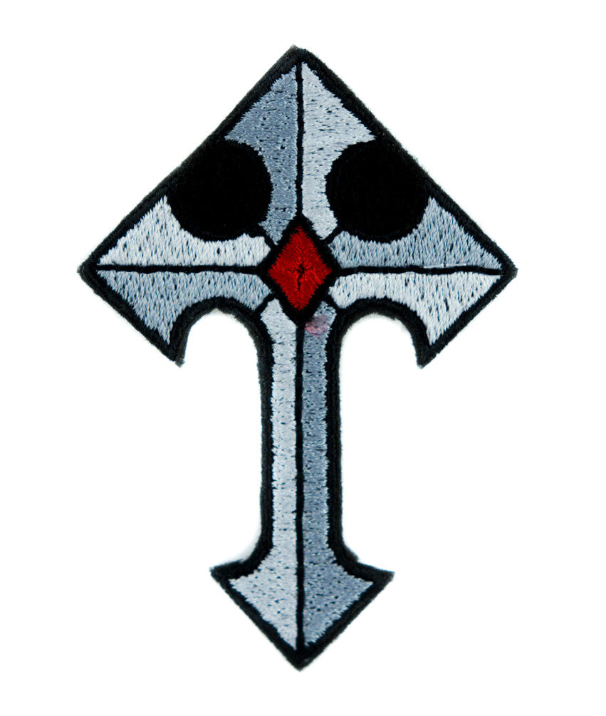 Medieval Holy Cross Patch Iron on Applique Alternative Clothing DIY