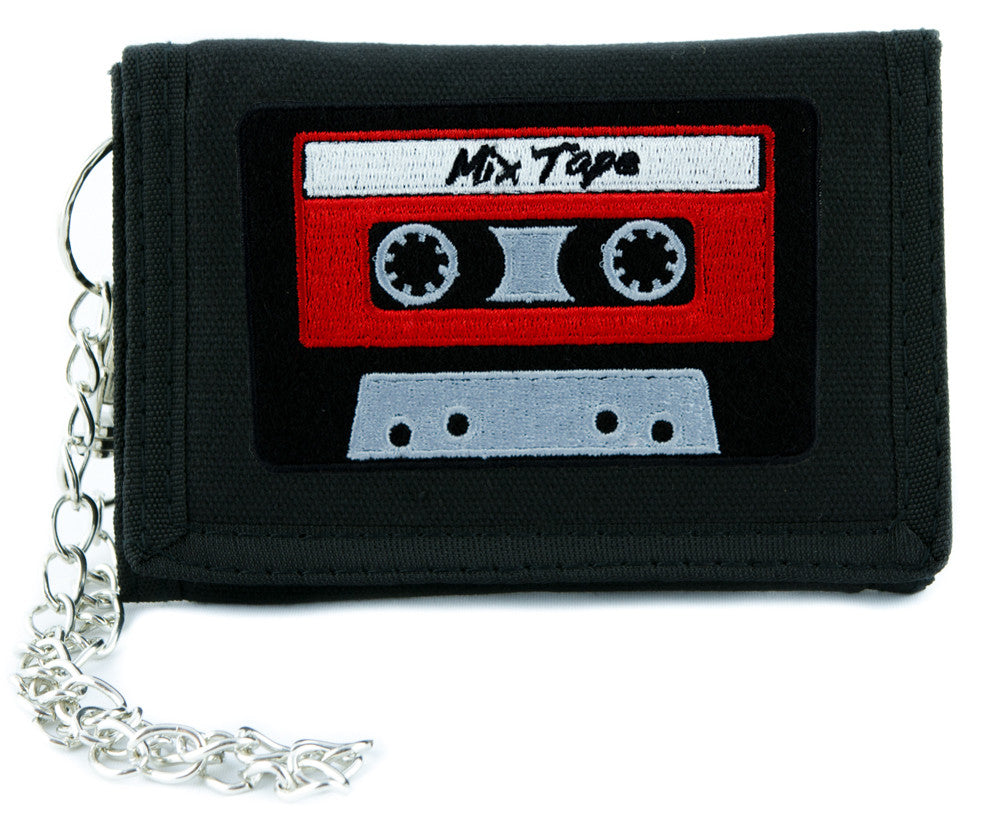 Mix Tape 80's Cassette Tape Tri-fold Wallet Alternative Clothing Nostalgia DJ Music