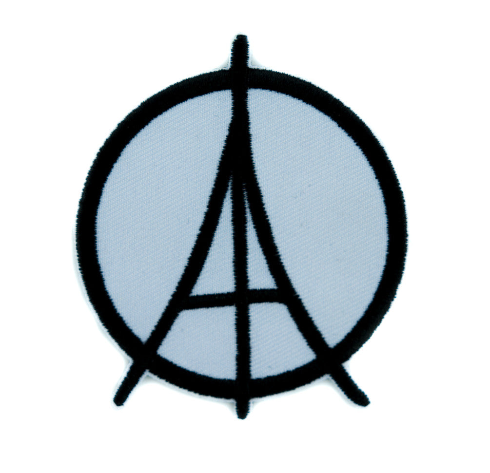 Paris Eiffel Tower Peace Symbol Patch Iron on Applique Alternative Clothing DIY