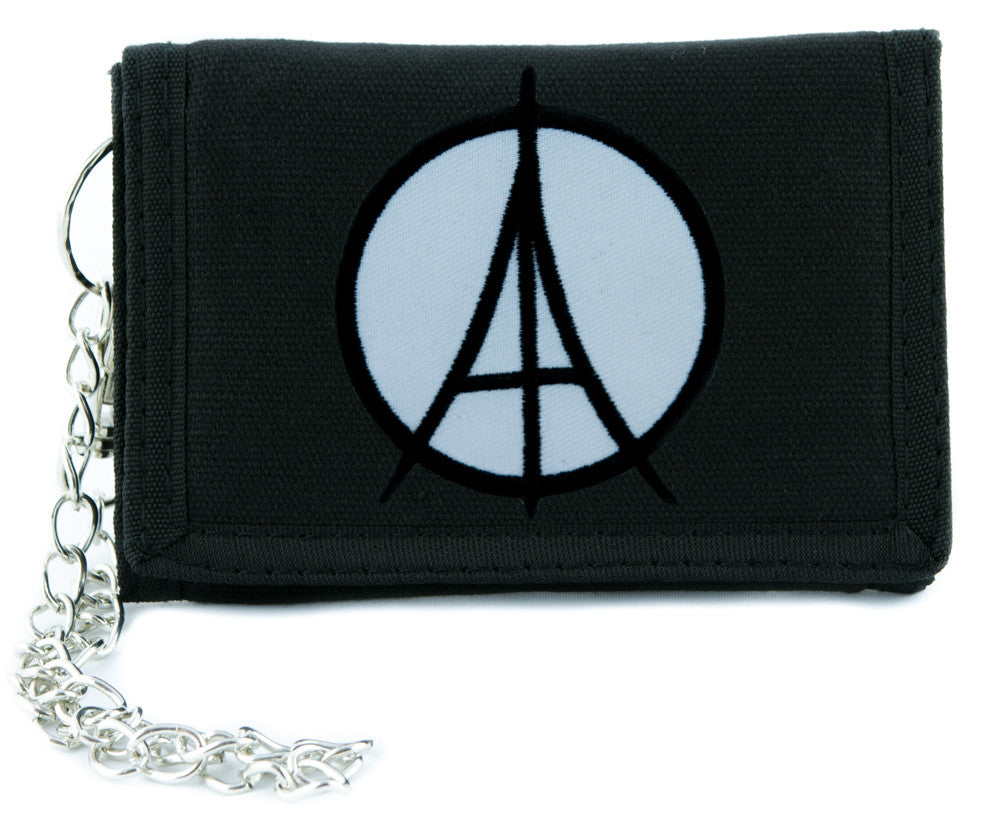 Paris Eiffel Tower Peace Symbol Tri-fold Wallet Alternative Clothing Peace Sign