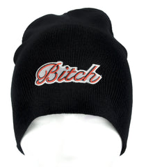 Bitch Beanie Alternative Clothing Knit Cap Femme Fatale