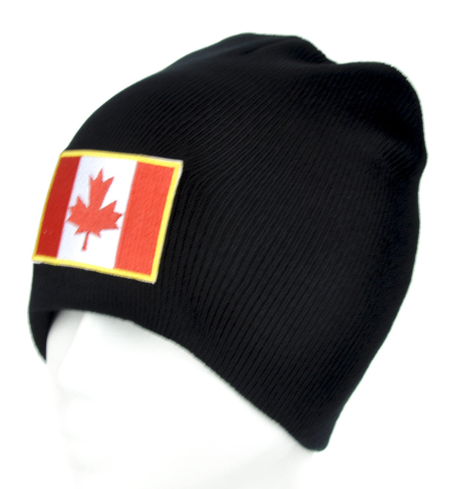 Canada Flag Red Maple Leaf Beanie Alternative Clothing Knit Cap Canadian