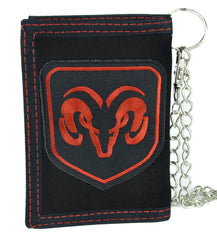 Dodge Ram Motor Company Tri-Fold Wallet with Chain Alternative Clothing Truck Car