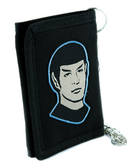 Mr. Spock Son of Sarek Star Trek Tri-fold Wallet with Chain Alternative Clothing Comic Con