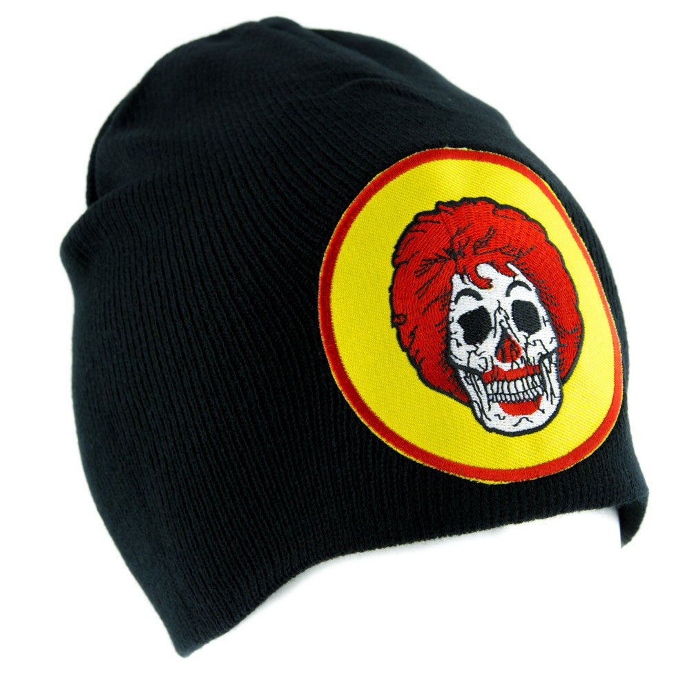 Ronald McDonald Skull Beanie Alternative Style Clothing Knit Cap Fast Food Culture