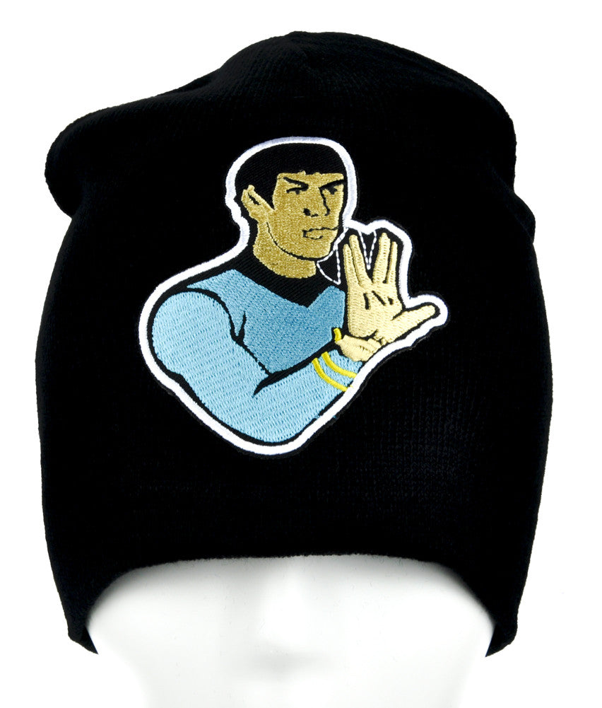 Spok Star Trek Beanie Alternative Clothing Knit Cap Live Long and Prosper
