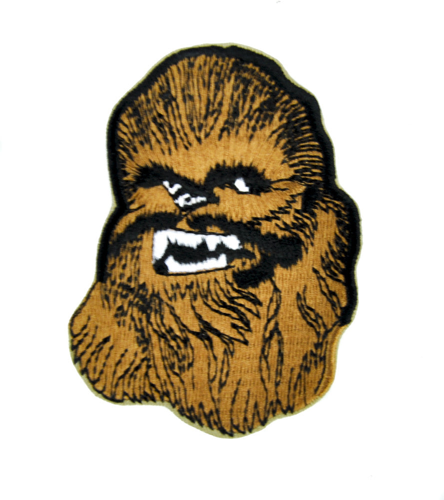 Chewbacca Wookie Star Wars Patch Iron on Applique Scifi Clothing